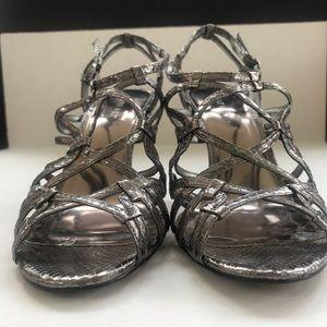 Nine West Shoes - Nine West metallic strappy heeled sandals